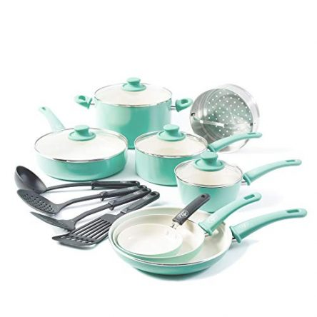 GreenLife Soft Grip Healthy Ceramic Nonstick, Cookware...